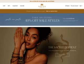 satyajewelry.com screenshot