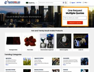 saudi-arabia.exportersindia.com screenshot