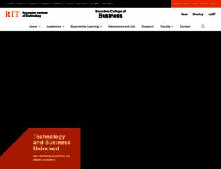 saunders.rit.edu screenshot