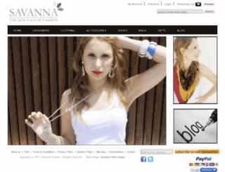 savannafashion.com screenshot