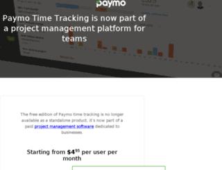 saveda.paymo.biz screenshot