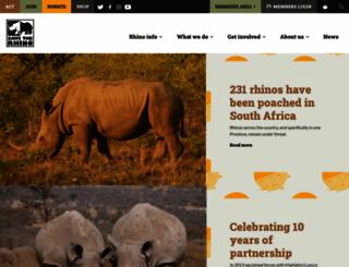 savetherhino.org screenshot
