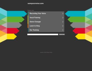 saveyourvoice.com screenshot