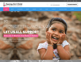 savinggirlchild.org screenshot