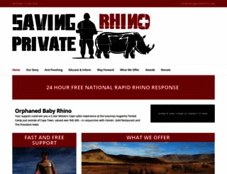 savingprivaterhino.org screenshot