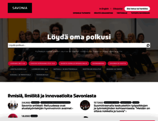 savonia.fi screenshot