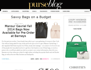 savvy.purseblog.com screenshot