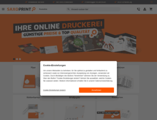 saxoprint.ch screenshot