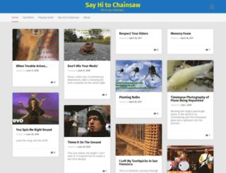 sayhitochainsaw.com screenshot