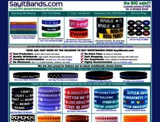 sayitbands.com screenshot