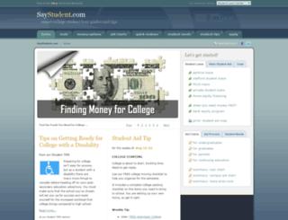 saystudent.com screenshot