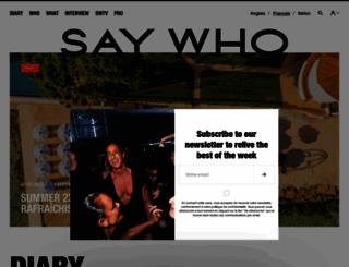 saywho.fr screenshot
