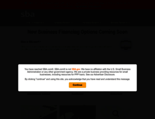 sba.com screenshot