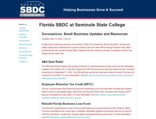 sbdc.seminolestate.edu screenshot
