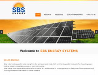 sbsenergy.in screenshot