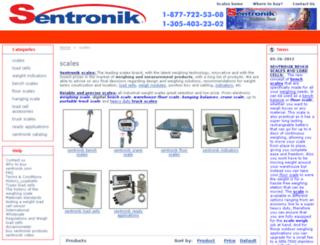 scales.sentronik.com screenshot