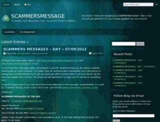 scammersemails.wordpress.com screenshot