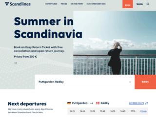 scandlines.eu screenshot