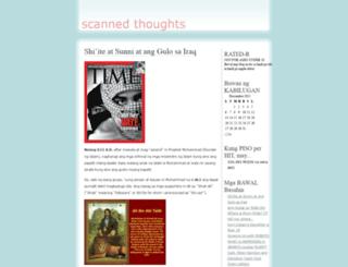 scannedthoughts.wordpress.com screenshot