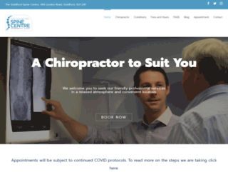 scchiropractorguildford.co.uk screenshot