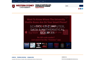 scem.uws.edu.au screenshot