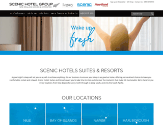 scenichotels.co.nz screenshot