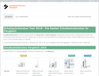schallzahnbuersten-tests.de screenshot