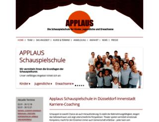 schauspielschuleapplaus.de screenshot