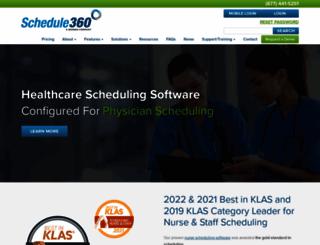 schedule360.com screenshot