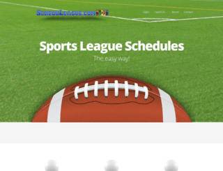 scheduleague.com screenshot