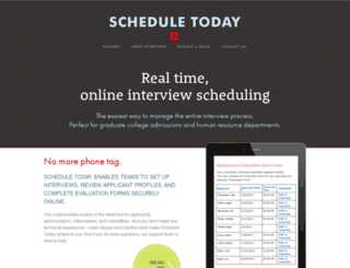 scheduletoday.com screenshot