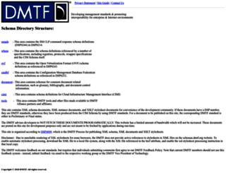 schemas.dmtf.org screenshot