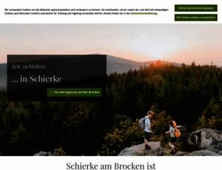 schierke-am-brocken.de screenshot