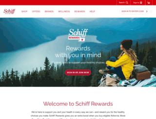 schiffloyaltyrewards.com screenshot