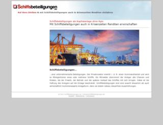 schiffsbeteiligungen.de screenshot