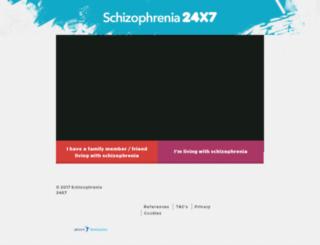 schizophrenia24x7.com screenshot