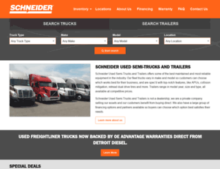 schneidertrucks.com screenshot