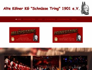 schnuesse-tring.de screenshot