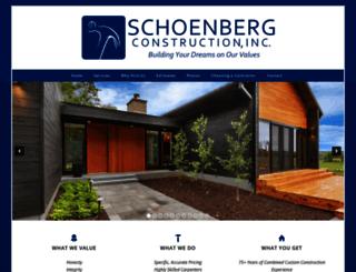 schoenbergconstruction.com screenshot