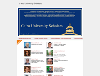 scholar.cu.edu.eg screenshot
