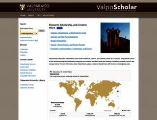 scholar.valpo.edu screenshot