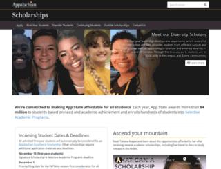 scholarships.appstate.edu screenshot