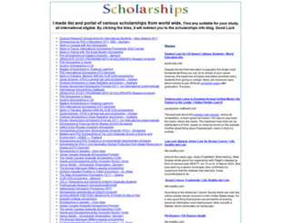 scholarships.atspace.com screenshot