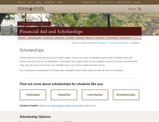 scholarships.txstate.edu screenshot