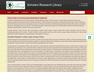 scholarsresearchlibrary.com screenshot