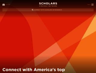 scholarsstrategynetwork.org screenshot