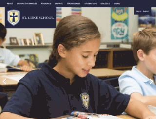 school-stlukeparish.org screenshot