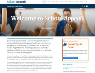 schoolappeals.org.uk screenshot