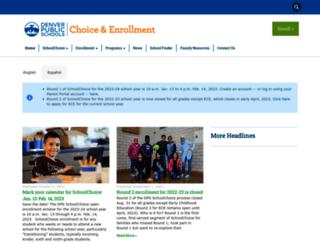 schoolchoice.dpsk12.org screenshot