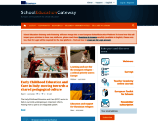 schooleducationgateway.eu screenshot